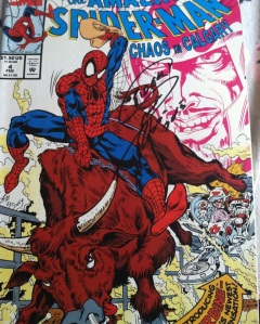 Signed SpiderMan Comic